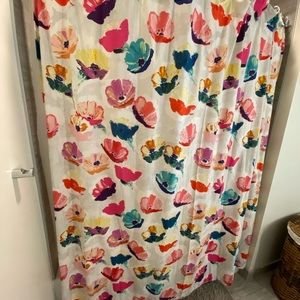 Anthropologie Magnolia Shower Curtain. Like New